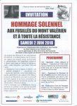 Cérémonie Mont-Valérien 2 juin
